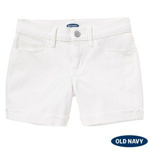 White Mid-Length Denim Shorts by Old Navy NWT